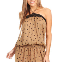 Polka Dot Long Body Halter Top