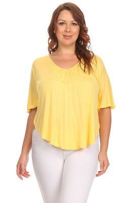 Waist Length Short Sleeve top
