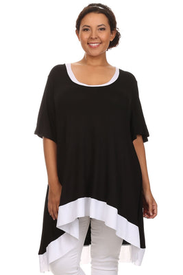 Plus Size Long Body Top