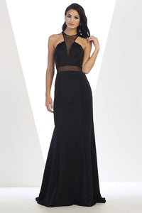 Long Sleeveless Mesh Gown