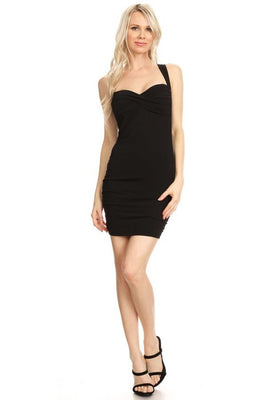 Women's Sexy Mini Dress with Crossed Back