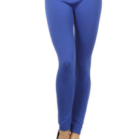 Women's High Waisted Warm Solid Leggings