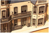 3D_Wooden assemble set_Laurel Town Home Black_Large