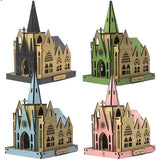 3D_Wooden assemble set_Mini Village_Church