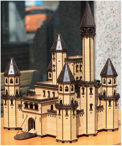 3D_Wooden assemble set_Fairy Tale Castle Black