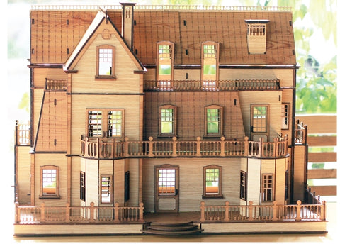 3D_Wooden assemble set_Gothic Villa