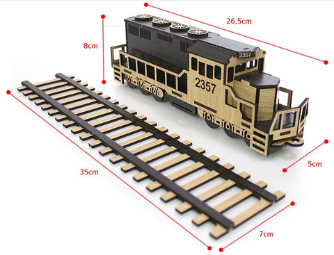 3D_Wooden assemble set_Mini Village_Train