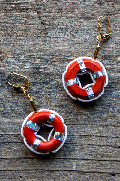 Life Ring Earrings