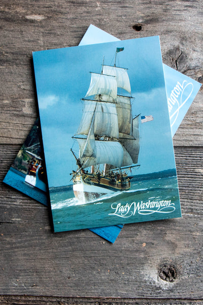 Lady Washington Crossing the Bar Postcard