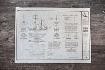 Lady Washington Hull Plans Poster