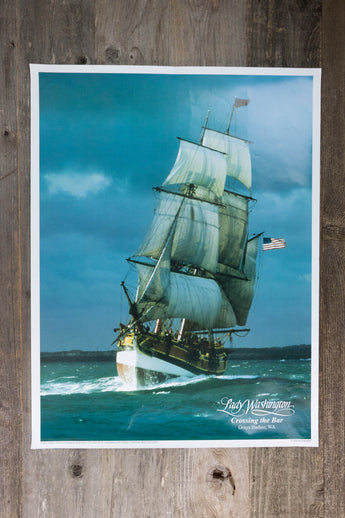 Lady Washington Crossing the Bar Poster