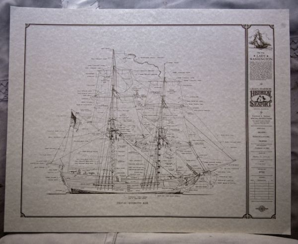 Lady Washington Sail Plans Poster