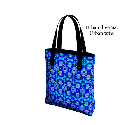 Stained Glass Cobalt Urban Tote