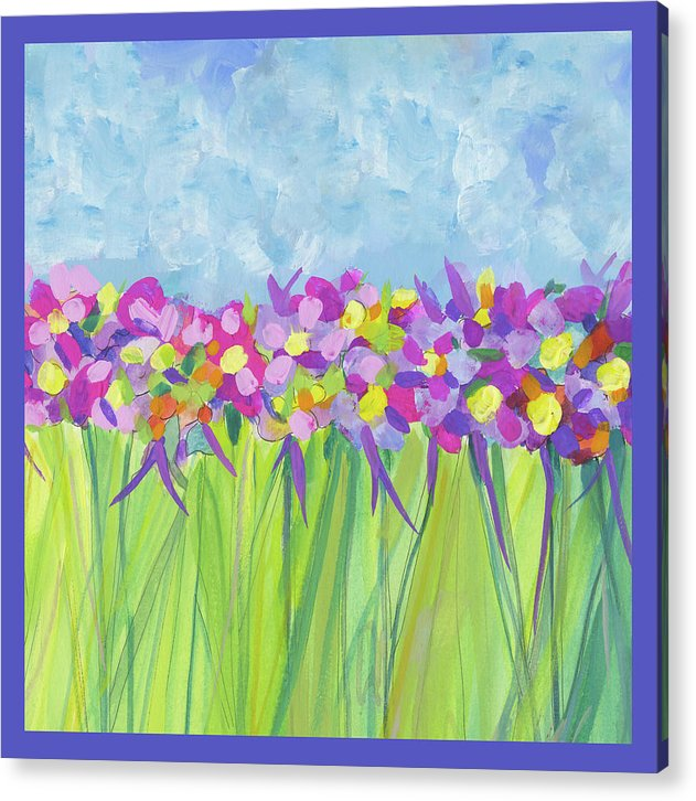 Follow Your Bliss - Violet  Border - Acrylic Print