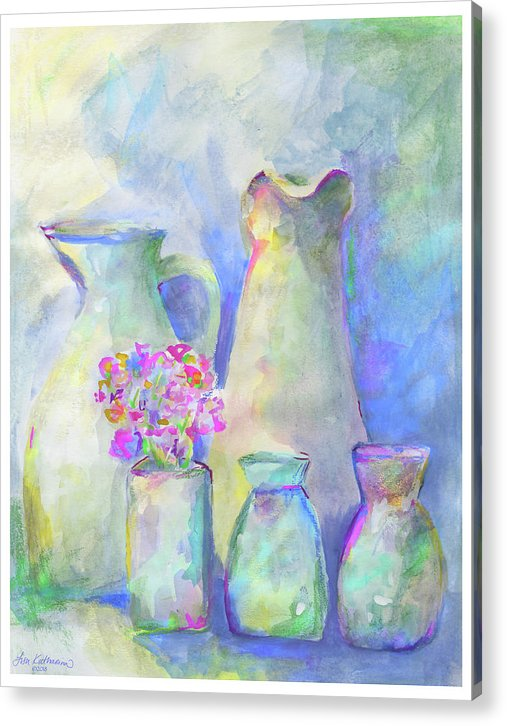 Homage To Morandi With Bouquet - Print
