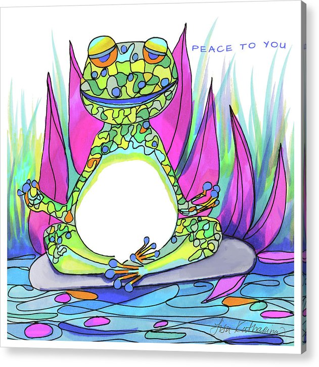 Peace To You Froggy - Print