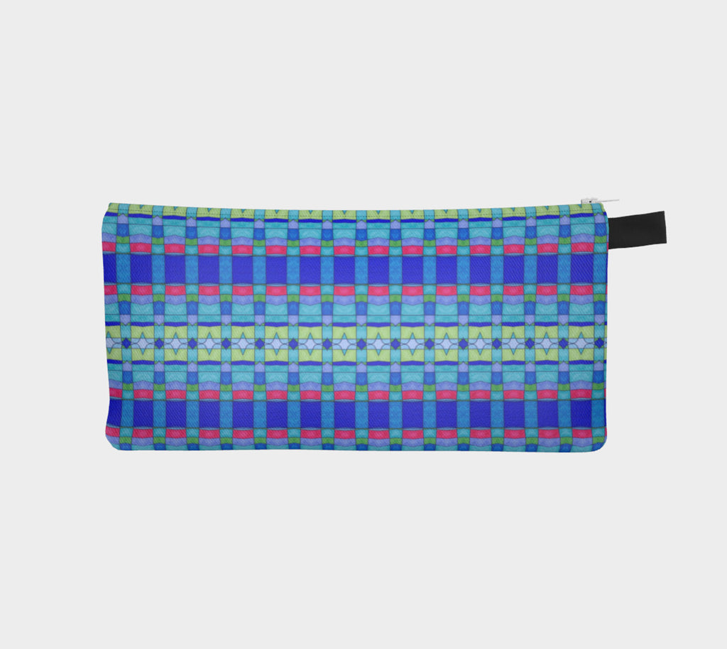 Stained Glass Blue Pencil Case - Lisa Katharina Artist