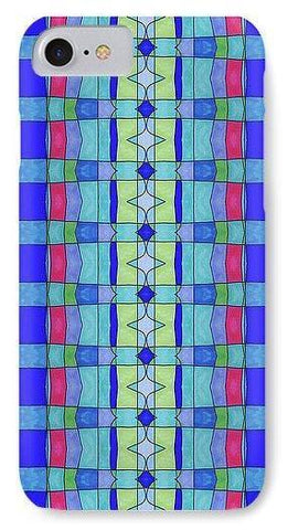 Stained Glass Blue - Phone Case - Lisa Katharina Artist