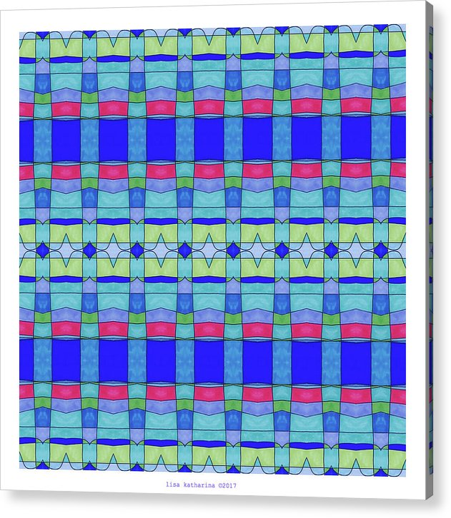 Stained Glass Blue - Acrylic Print - Lisa Katharina Artist