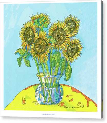 Sunflowers For Matisse - Acrylic Print