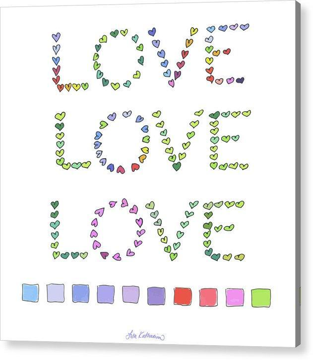 Swatch Triple Love - Acrylic Print
