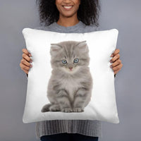 coussin chat realiste