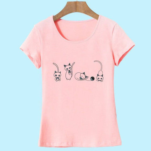 tee shirt original dessin chat
