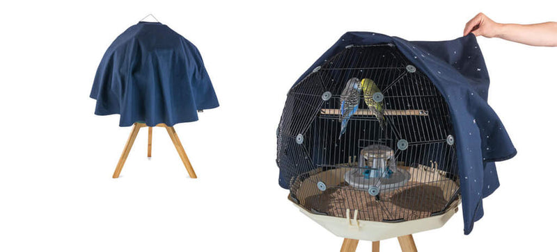 Geo Bird Cage Night Cover