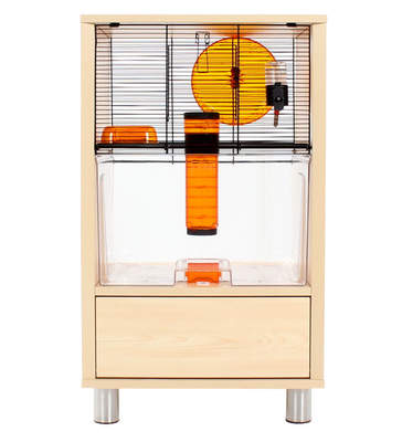 Qute Hamster & Gerbil Cage - Birch