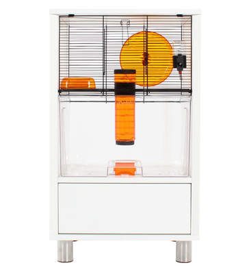 Qute Hamster & Gerbil Cage - White