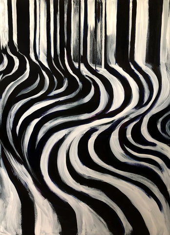 Abstract black and white art expressionism contemporary art