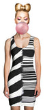 Black and white bodycon dress