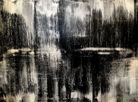 Black and white art contemporary abstract expressionism