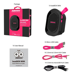 MINI Bluetooth Waterproof Portable Speaker (Pink)