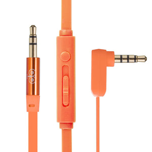 AUX Cable With Mic & Remote AUC101 - Orange