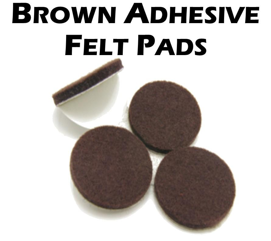Brown Adhesive Felt Pads (48-Pack)