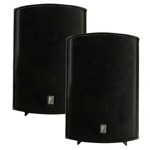 "Poly-Planar Compact Box Speaker - 7-11-16"" x 5-1-8"" x 4-11-16"" - (Pair) Black"