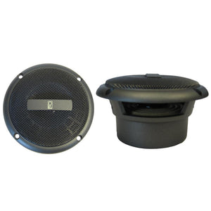 "Poly-Planar 3"" Round Flush-Mount Compnent Speakers - (Pair) Gray"