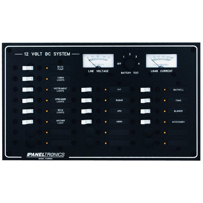 Paneltronics Standard DC 20 Position Breaker Panel & Meter