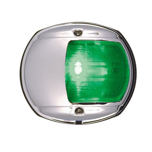 Perko LED Side Light - Green - 12V - Chrome Plated Housing