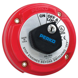 Perko Medium Duty Main Battery Disconnect Switch w-Key Lock