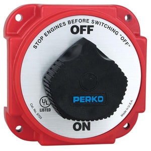 Perko 9703DP Heavy Duty Battery Disconnect Switch w- Alternator Field Disconnect