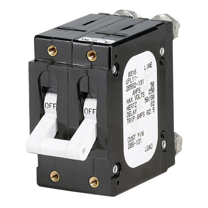 Paneltronics 'C' Frame Magnetic Circuit Breaker - 60 Amp - Double Pole - White