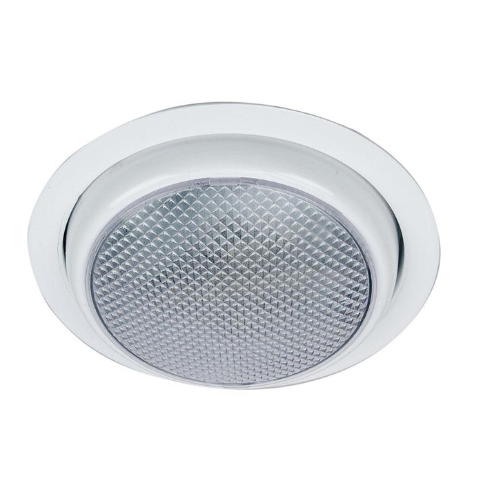 Perko Round Surface Mount LED Dome Light w-Trim Ring - White Powder Coat