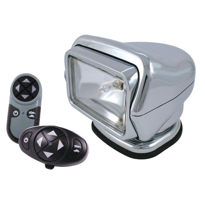 Golight Stryker Searchlight 12V w-Wireless Dash & Handheld Remote - Chrome