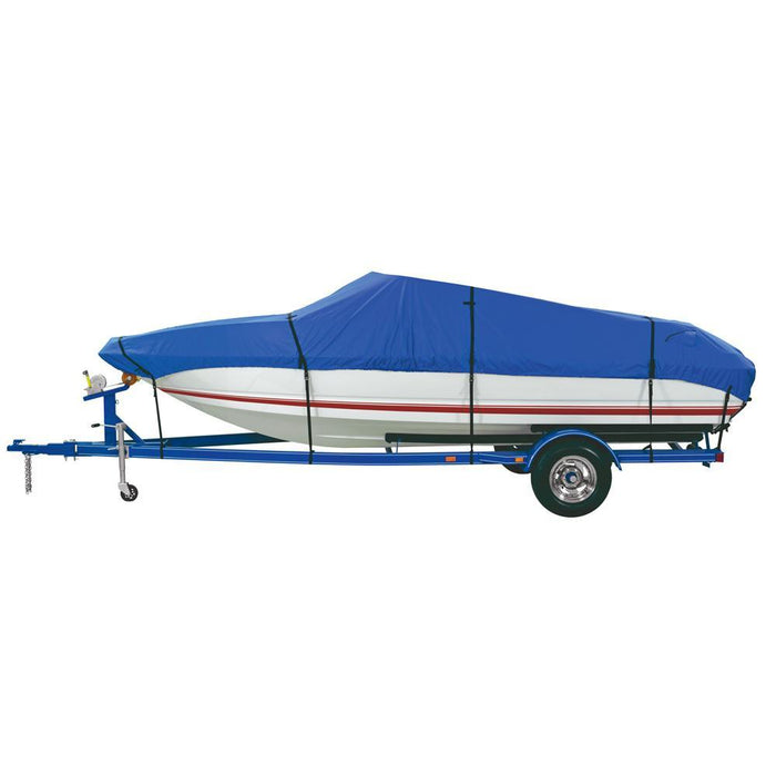 Dallas Manufacturing Co. Custom Grade Polyester Boat Cover E 20'-22' V-Hull Runabouts - Beam Width to 100""