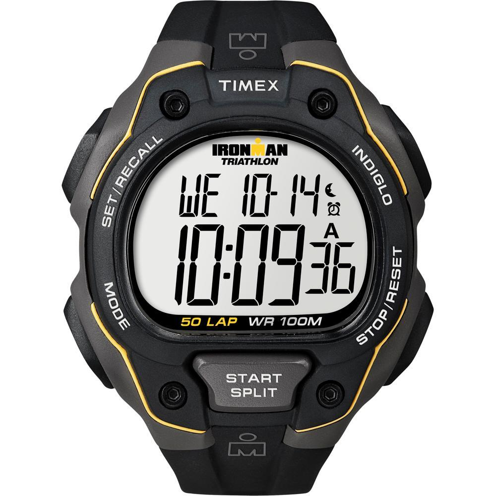 Timex Ironman 50 Lap Watch - Black-Yellow