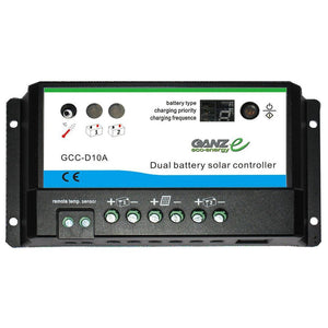 Ganz Eco-Energy Dual Charge Controller - 12-24V