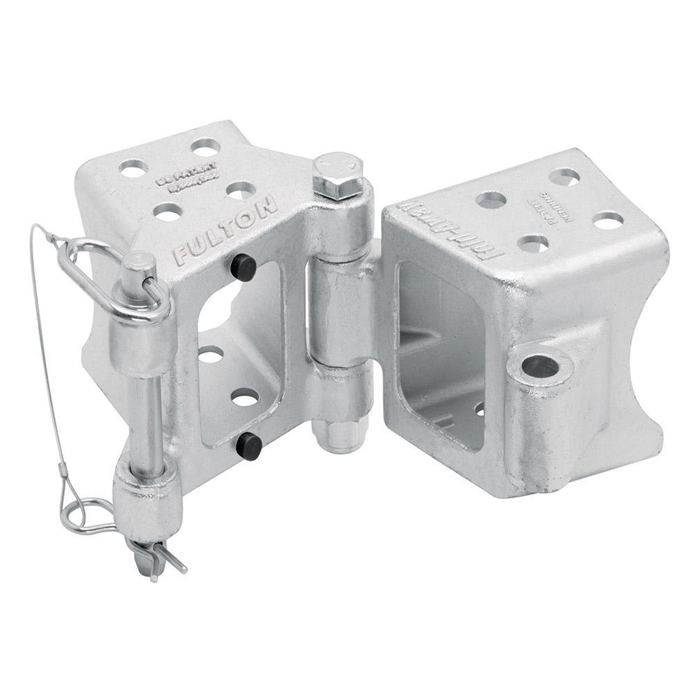"Fulton Fold-Away Bolt-On Hinge Kit 3"" x 4"" Trailer Beam, Rating 7,500 lbs., 48"" Pivot, Z-Max 600 Zinc Finish"