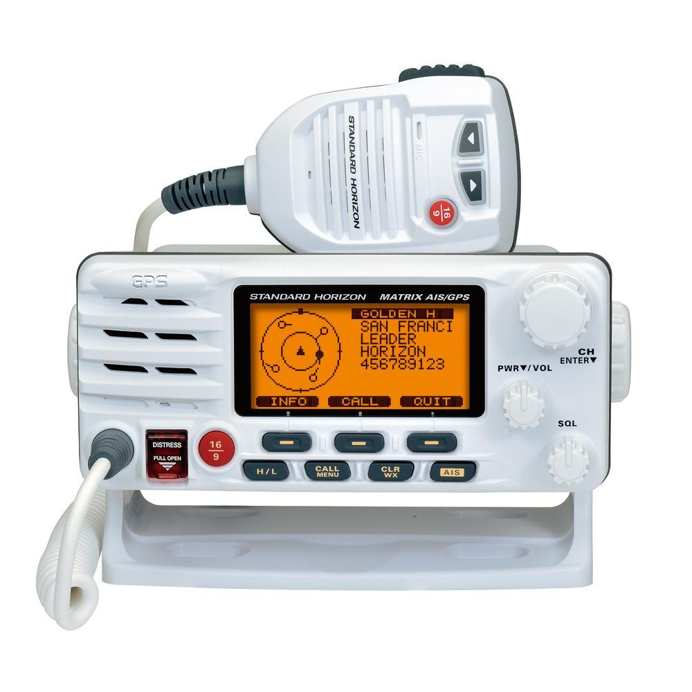 Standard Horizon Matrix Fixed Mount VHF w-AIS & GPS - Class D DSC - 30W - White